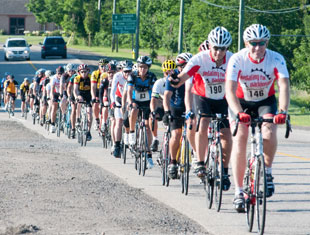 A Group of Cyclists supporting Pedaling for Parkinsons